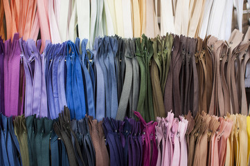 colored zipper for trousers, pants, skirts, rainbow zippers