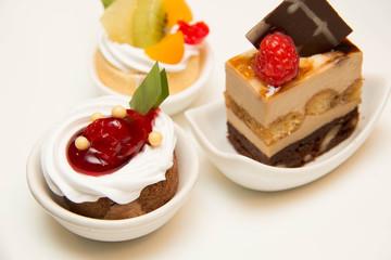 assorted Mini cake delicious and beautiful.