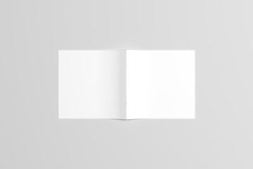 Square Catalog / Magazine Mock-Up. Saddle Stitch