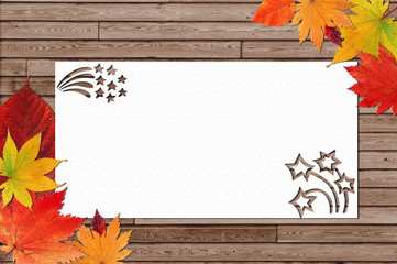 Autumn greeting cards, wallpaper, backgrounds, autumn leaves, Halloween