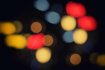 colorful bokeh light in black background