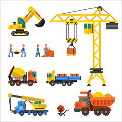Under construction technic vector illustration