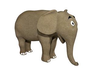 elefante renderização 3D