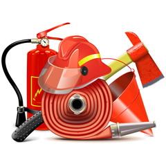 Vector Fire Prevention Equipment Concept