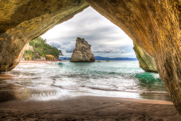 Poster de jardin Cathedral Cove Cathedral Cove #1, New Zealand