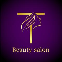 Hair salon logo photos royalty free images graphics vectors abstract letter t logogold beauty salon logo design template altavistaventures Images