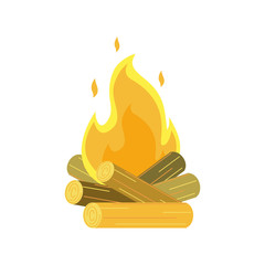 Campfire vector illustration.