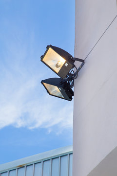 large outdoor light for building security.
