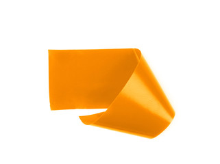 Single piece of insulating tape isolated