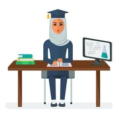 arabian woman student