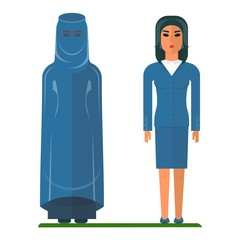 arab woman traditional and business