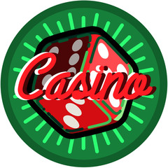 Color vintage casino emblem