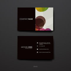 Set of Design Business Card Template in abstract background style