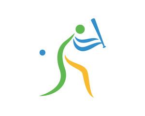 Modern Sports Logo Symbol - Baseball