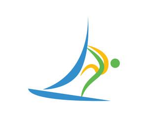 Modern Sports Logo Symbol - Sailing