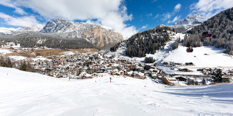 Mountain village in the Dolomites