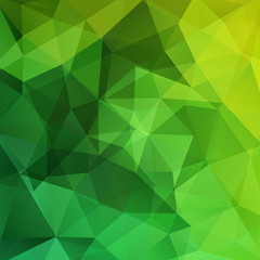 Background of geometric shapes. Green mosaic pattern. Vector