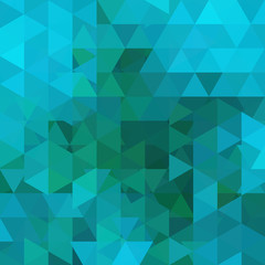 Geometric pattern, triangles vector background in blue tones.