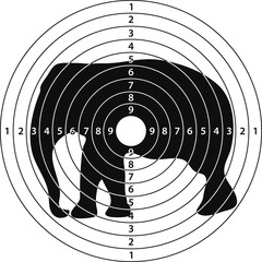 shooting target elephant