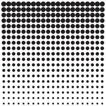 Background with dots, from small to large.