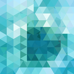 Background of blue geometric shapes. Abstract triangle background.