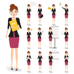 set of business woman character.