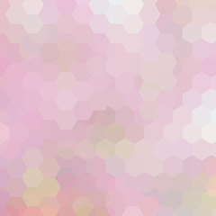 Geometric pattern, vector background with hexagons in pink tones