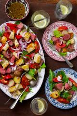 roast beaf  and potato warm salad