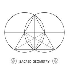 sacred geometry construction symbol illustration