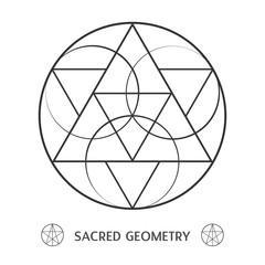 sacred geometry symmetric symbol. Vector illustration