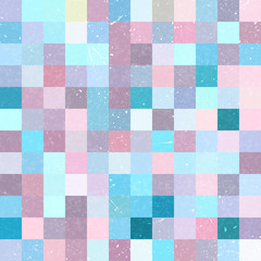 Seamless geometric checked pattern. Pink, blue colors.