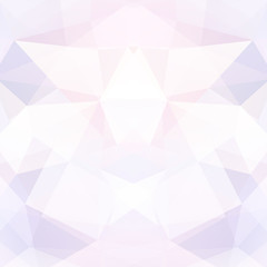 Abstract polygonal vector background. Pastel pink geometric