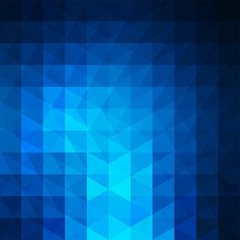 Background of geometric blue shapes. Abstract triangle geometric