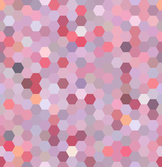 Vector background with hexagons. Can be used for printing