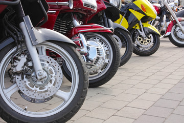 Motorcycles in the street
