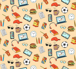 Seamless pattern of some subjects the student or the student.