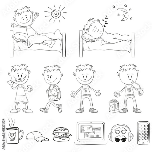 how to draw a person sleeping step by step