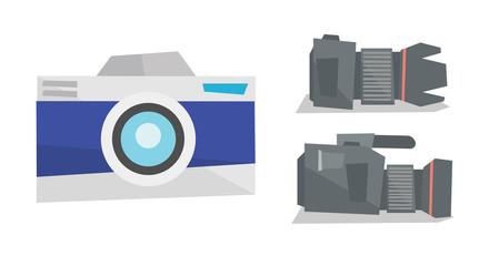 Digital photo camera and professional video camera