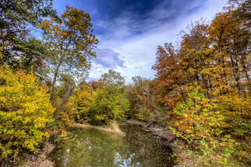Big Muddy Creek, a trubutary to the Cache River in Southern Illinois, Cache River State Natural Area.