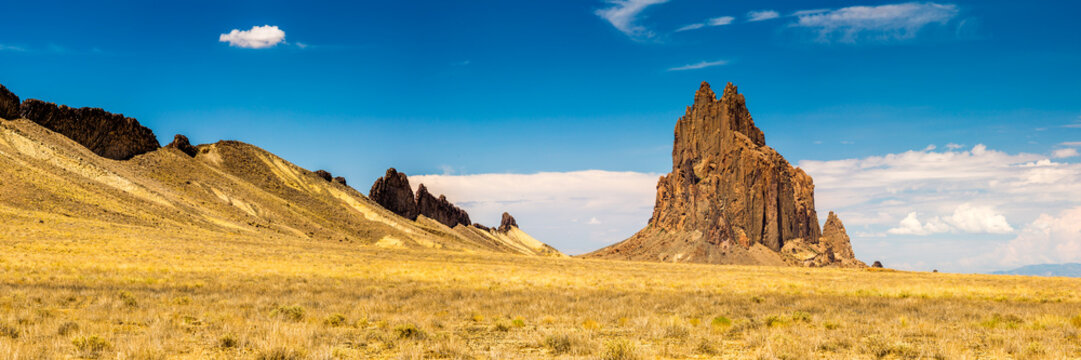 Shiprock formation in New Mexico.