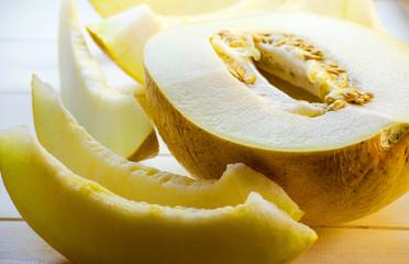 slices of ripe melon