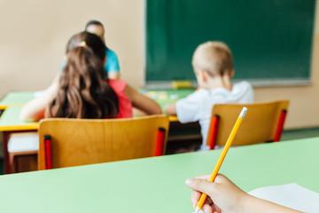 Child using pencil