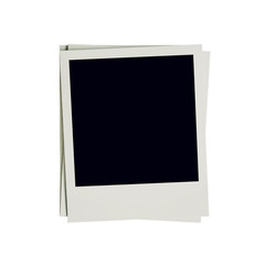 Frame photo blank on isolated white with clipping path.