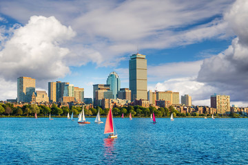 View of Boston Massachusetts Skyline