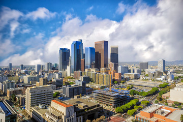 Downtown LA  skyline cityscape California