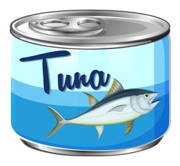 Canned food with tuna inside