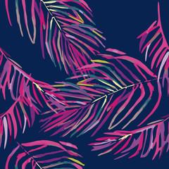Seamless pattern with pastel pink flamingos.