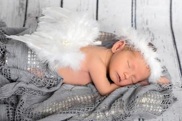 Neugeborenes Baby, Newborn, Vintage, Weihnachten