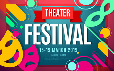 theater festival vector color banner