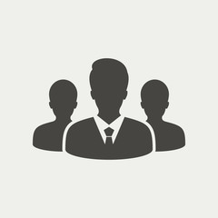 Group of business people. Business team icon - Vector